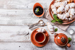 Rugelach with jam Stock Images