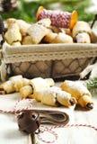 Rugelach met chocolade het vullen Royalty-vrije Stock Fotografie
