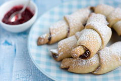Rugelach with Raspberry jam filling Stock Image
