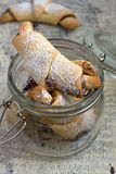 Rugelach with Raspberry jam filling Royalty Free Stock Photos