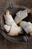 Rugelach with Raspberry jam filling Royalty Free Stock Images