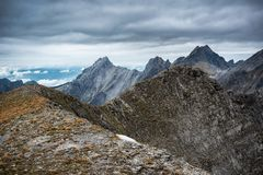Ruggdness in Apuan alps. Italy Stock Photo