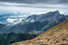 Ruggdness nelle alpi di Apuan Immagine Stock