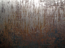 Rugged Aged Steel. A rich textured rugged surface of a piece of aged industrial steel Stock Images