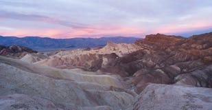 Rugged Badlands Amargosa Mountain Range Death Valley Zabriske Point Stock Photos