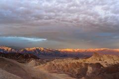 Rugged Badlands Amargosa Mountain Range Death Valley Zabriske Point Royalty Free Stock Image