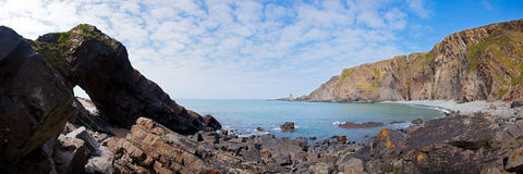 Rugged beach. At Hartland Quay Devon England UK royalty free stock image