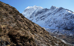 The rugged beauty of the Himalayas at an altitude of 4000 m Stock Images