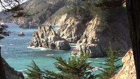 Rugged Big Sur Coast stock footage