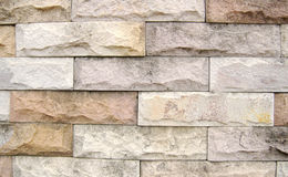 The rugged brick wall. The brick walls are arranged so durable Royalty Free Stock Photography