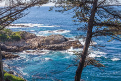 Rugged California Coast. The scenic landscape along the California coast near monterey and big sur Royalty Free Stock Photography