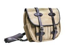 Rugged canvas bag, with clipping paths on white background. royalty free stock image