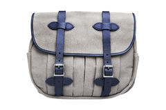 Rugged canvas bag, isolated with clipping paths on white background. Stock Images