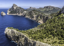 Rugged Cape Formentor, Majorca Royalty Free Stock Photos