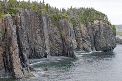 Rugged cliffs in Atlantic Canada Royalty Free Stock Photos
