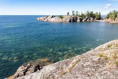 Rugged cliffs at Lake Superior Stock Photos