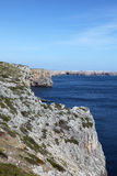 Rugged cliffs - Sagres Portugal Royalty Free Stock Photo