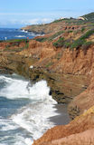 Rugged Cliffs in San Diego Stock Image