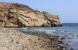 Rugged Coast. Rocky Coastline, seaside, beach, cliffs Royalty Free Stock Image