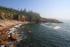 The rugged coast of Acadia National Park, Maine. stock image