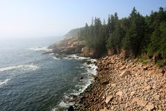 The rugged coast of Acadia National Park, Maine. royalty free stock images