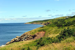 The rugged coast of the Cabot Trail. The rugged coast of the world famous Cabot Trail in Cape Breton, Nova Scotia, Canada.  The rugged coast of the world famous Stock Photos