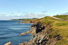 The rugged coast of the Cabot Trail. The rugged coast of the world famous Cabot Trail in Cape Breton, Nova Scotia, Canada.  Cape Breton was chosen as the top Stock Photo