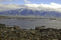 Rugged Coast of Kaikoura, New Zealand Stock Photos