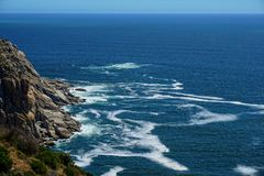 The rugged coast and mountains near Capetown. South Africa Stock Images