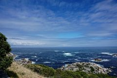 The rugged coast and mountains near Capetown. South Africa Royalty Free Stock Photo
