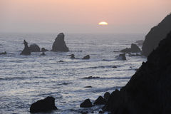 Rugged coast of Northern California Stock Photography