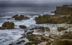 Rugged Coast and Seawall Stock Photos