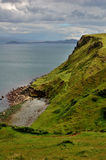 Rugged Coast of Skye, Scotland. A view on the rugged Coast of Skye, an island off the west coast of Scotland royalty free stock images