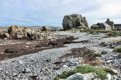 Rugged Coastal Beach Landscape in Brittany France Royalty Free Stock Images