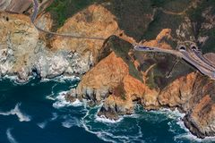 Free Rugged Coastal Cliffs By The Devil`s Slide Tunnel In San Mateo County, Northern California, Fly From San Francisco, USA Royalty Free Stock Photo - 139600765