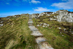 Rugged Coastal Footpath Royalty Free Stock Photos