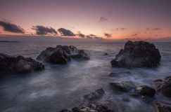 A Rugged Coastal Sunrise Stock Photography