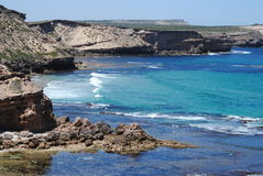 Rugged coastline. On West Coast of South Australia Royalty Free Stock Images