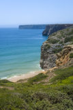 Rugged coastline in Algarve, South of Portugal Royalty Free Stock Photography