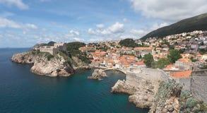 Rugged Coastline of Dubrovnik, Croatia Stock Image