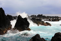 Rugged coastline hawaii Royalty Free Stock Photography