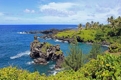 Rugged coastline hawaii maui Stock Photography