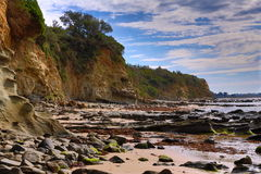 Rugged coastline in HDR Stock Photo
