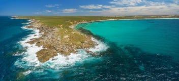 Rugged coastline of Kangaroo Island in summer - beautiful aerial Royalty Free Stock Photos