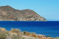 Rugged coastline, Mojacar. Stock Images