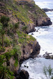 Rugged coastline in the north of the island of Tenerife Royalty Free Stock Image