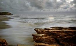 A rugged coastline.NZ Stock Photo