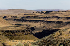 Rugged Country,. This image shows some of the rugged country near Palouse Falls in central Washington royalty free stock image