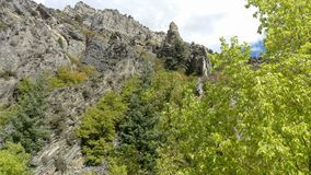 Craggy Outcrops in Rock Canyon. The rugged craggy outcrops of Rock Canyon in Provo, Ut stock photography