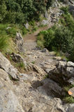 Rugged Dirt Pathway Known as the Path of Gods in Amalfi Royalty Free Stock Photo